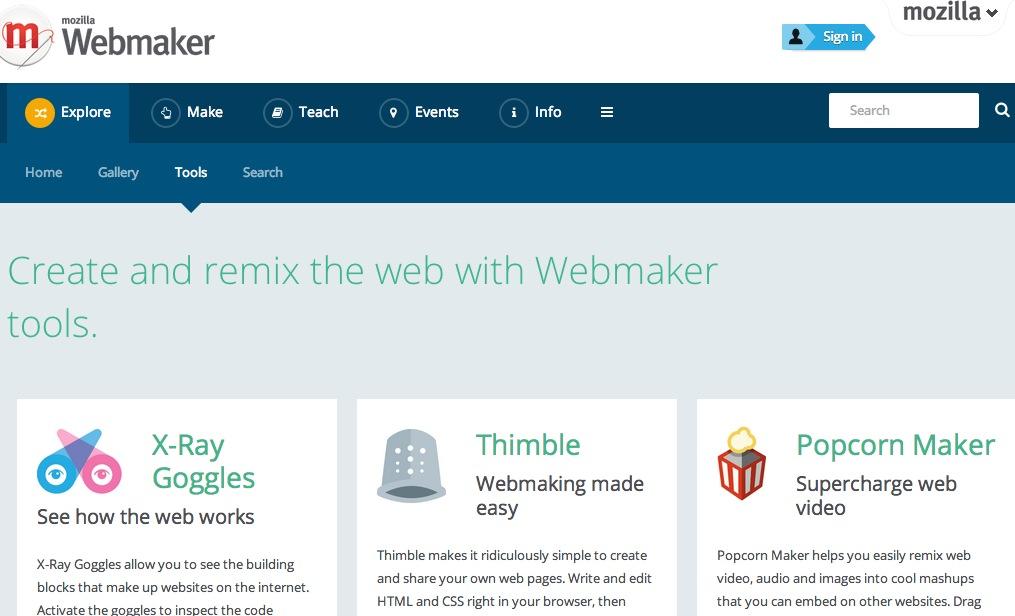 Tools – Mozilla Webmaker