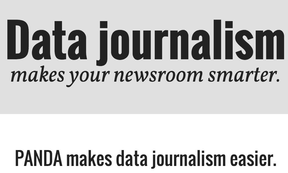 PANDA Project — Data journalism makes your newsroom smarter