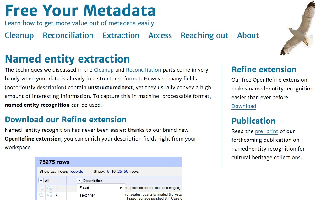 Free Your Metadata | Extraction