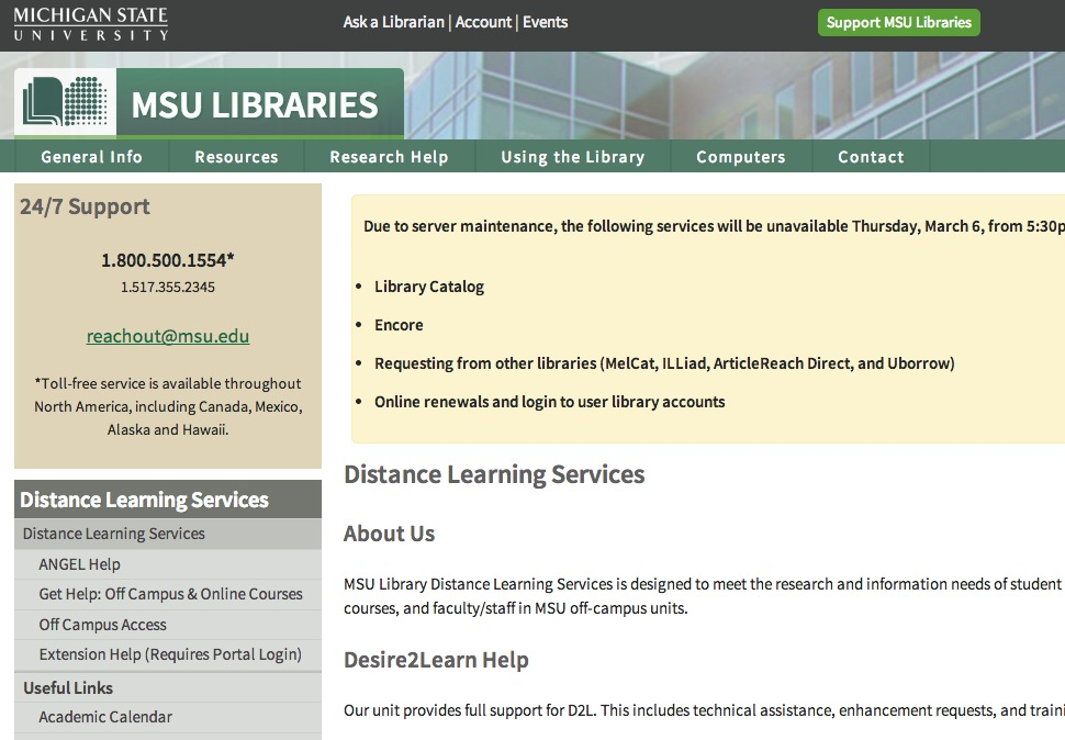 Distance Learning Services | MSU Libraries